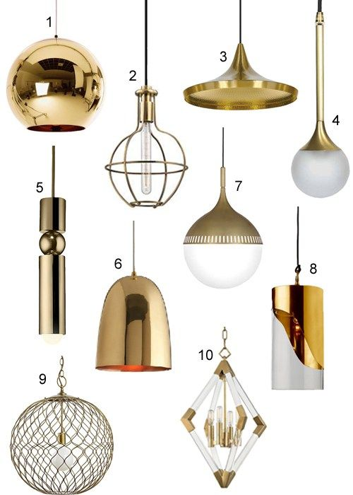 Modern Brass Pendant Lights For Kitchens & Baths | Lighting in 2019