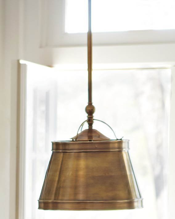 Sloane Single Shop Pendant Lamp, Antique Brass | Williams Sonoma