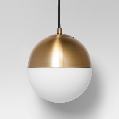 Glass Globe Pendant Ceiling Light Brass - Project 62™ : Target