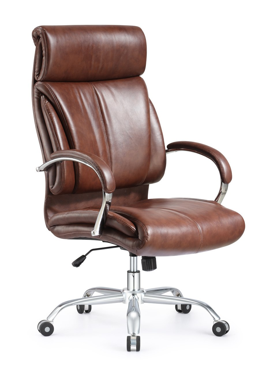 Ergonomic style and Vintage High Back leather office chair brown leather  chair - Orlando Office Furniture