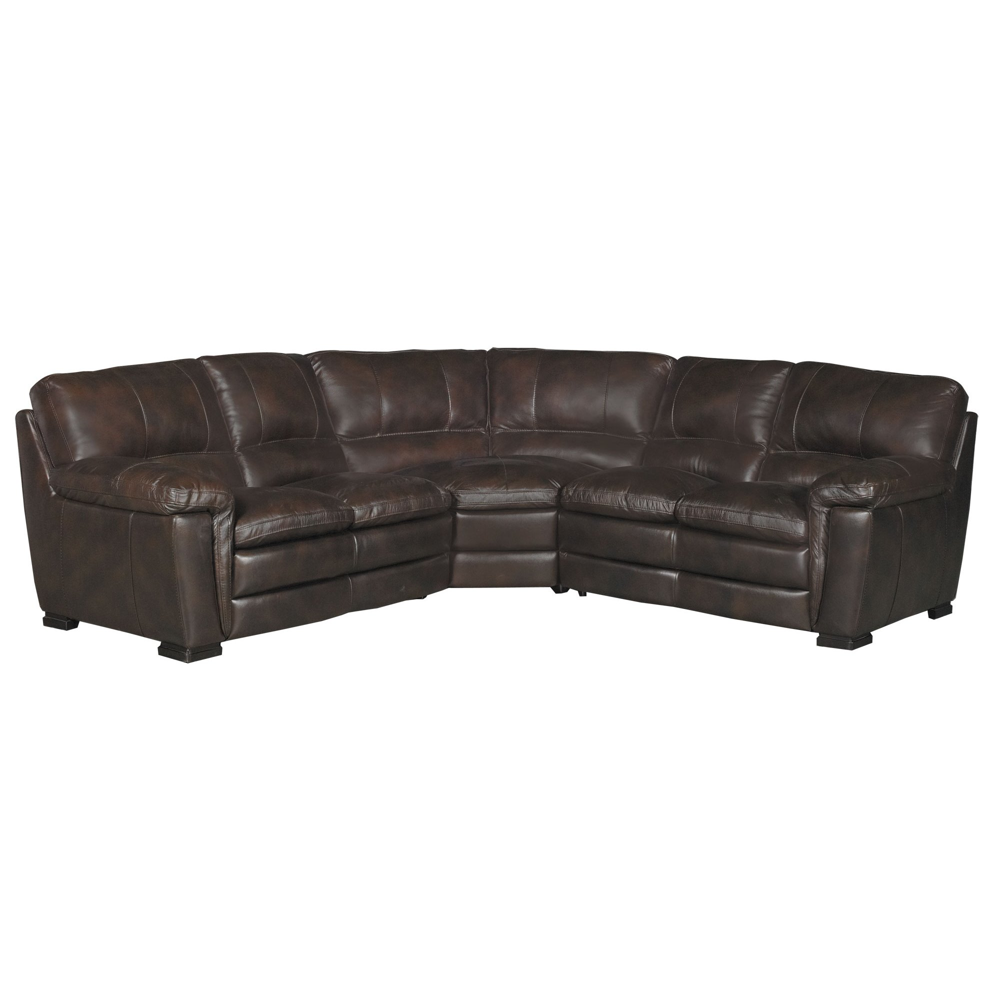Contemporary 3 Piece Brown Leather Sectional Sofa - Tanner | RC Willey  Furniture Store