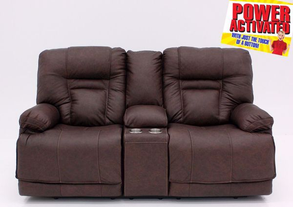 Picture of Wurstrow Power Reclining Loveseat - Brown