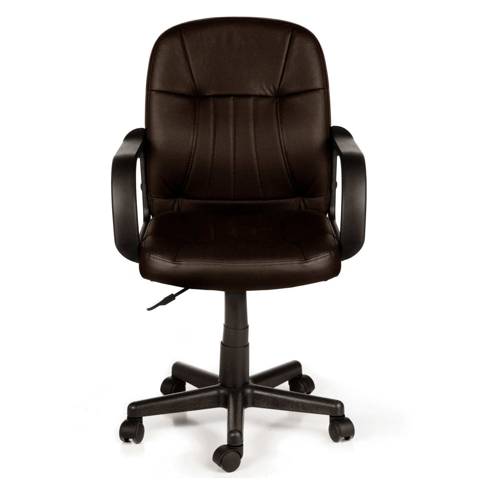 Comfort Products 60-5607M Mid-Back Leather Office Chair, Black - Traveller Location