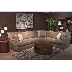 Shambala Contemporary L-Shaped Sectional Sofa | Rotmans | Sectional Sofas
