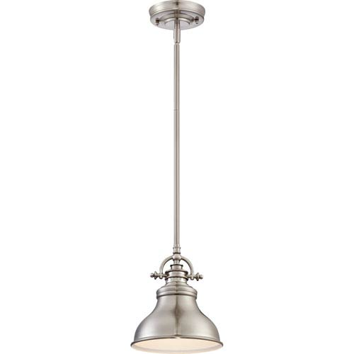 Quoizel Emery Brushed Nickel One Light Mini Pendant Er1508bn | Bellacor