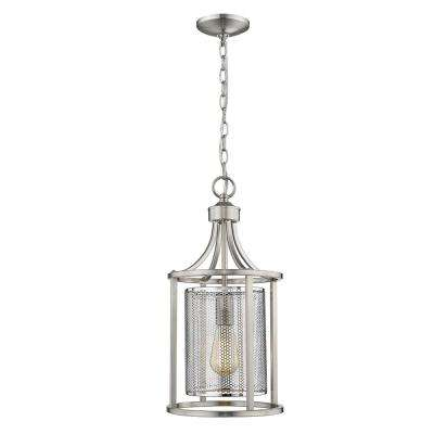 Brushed Nickel - Farmhouse - Pendant Lights - Lighting - The Home Depot