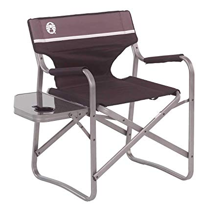 Amazon.com : Coleman Portable Deck Chair with Side Table : Camping