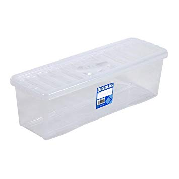 Clear CD Storage Box To Hold 52 CD's Home Archive Storage Box