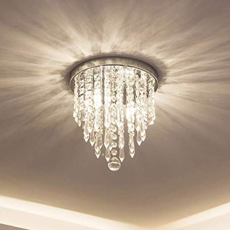 lifeholder Mini Chandelier, Crystal Chandelier Lighting, 2 Lights, Flush  Mount Ceiling Light,