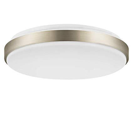 15 Inch Equivalent 160W Flush Mount LED Ceiling Light,LVWIT 22W Dimmable  3000K Soft White