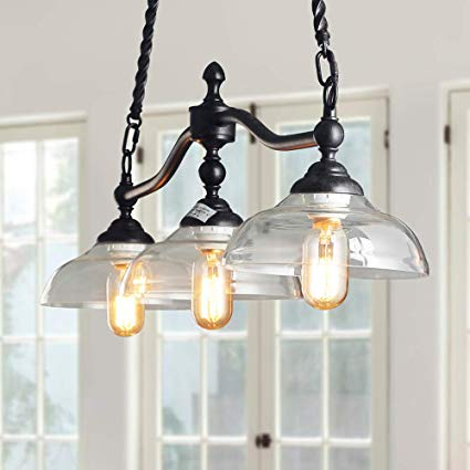 Amazon.com: Log Barn 3 Lights Island Hanging Lighting for Kitchen