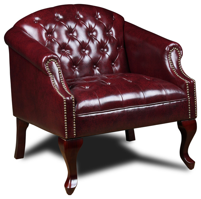 Boss Chairs Boss Classic Traditional Button Tufted Club Chair - Traditional  - Armchairs And Accent Chairs - by Beyond Stores