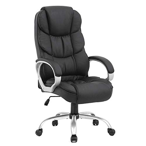 BestOffice Office Chair Desk Ergonomic Swivel Executive Adjustable Task  Computer High Back Chair with Back Support