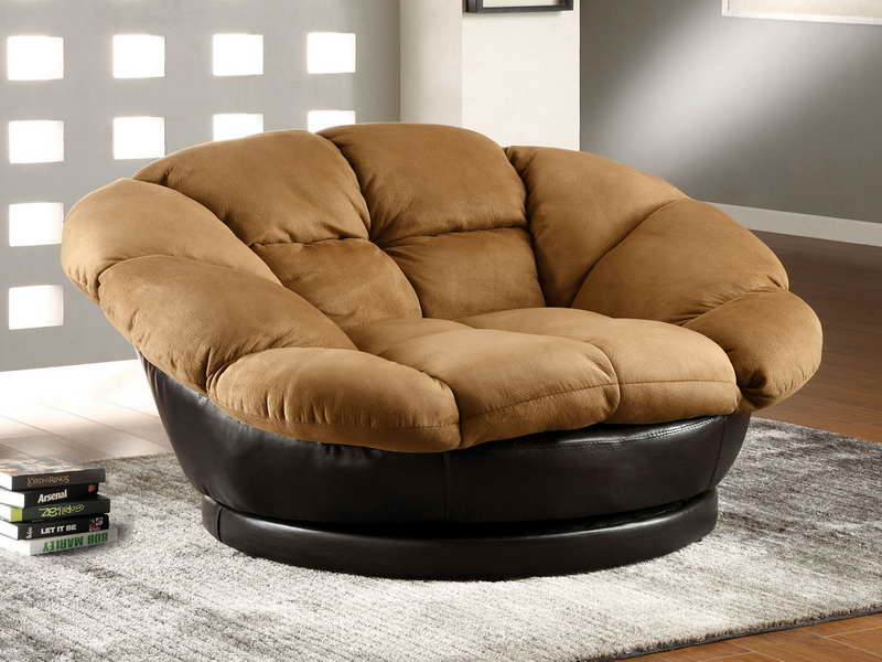 Image of: Oversized Living Room Chair Round