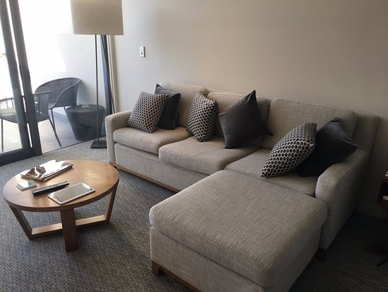 Big, comfy couch - Picture of The Rees Hotel, Luxury Apartments