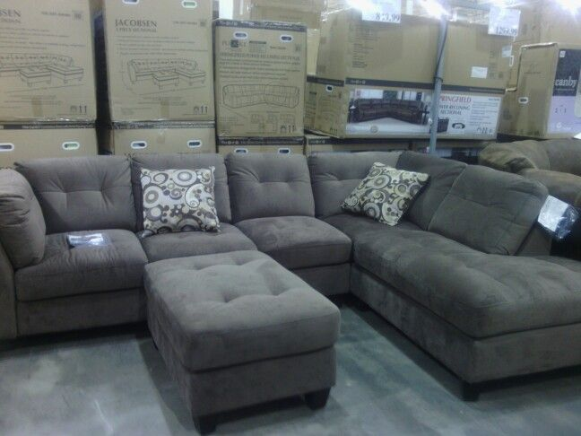 Comfy sectional couch @ Costco and something like this will go into my  basement | Basement Basement Basement | Comfy sectional, Grey sectional sofa,