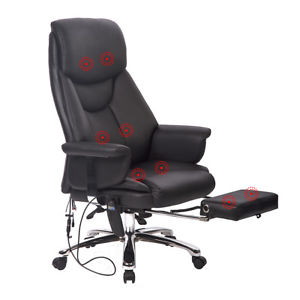 Image is loading New-Executive-Office-Massage-Chair-Vibrating-Ergonomic- Computer-
