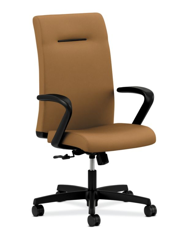 HON Ignition Executive High-Back Chair Fixed Arms Side Front View  HIEH1.F.H.U.CU26