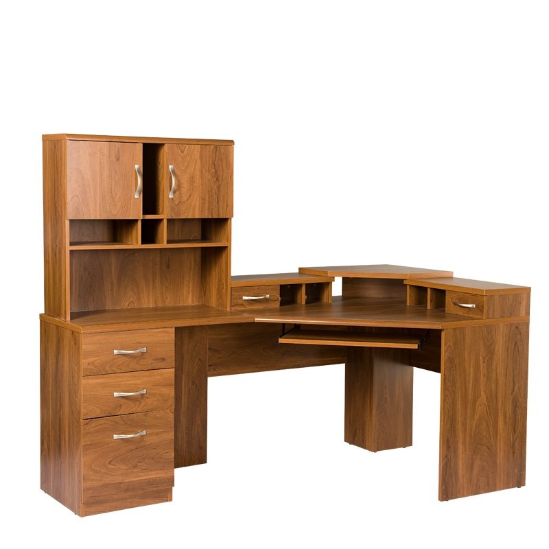 Leavy Reversible Corner Computer Desk with Hutch