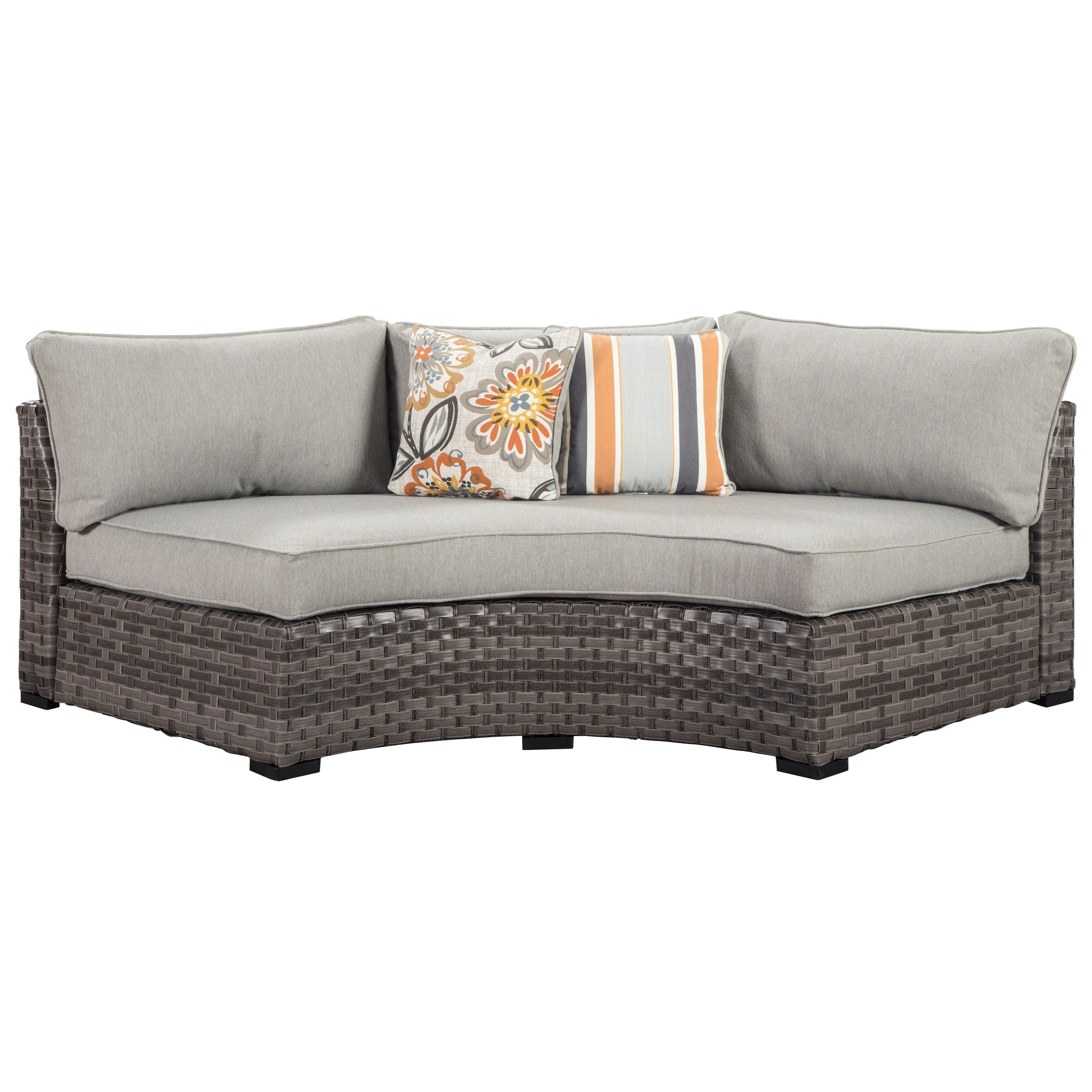 Spring Dew Loveseat/Curved Corner Chair with Cushion by Ashley Signature  Design