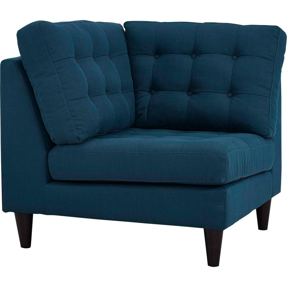 MODWAY Empress Azure Upholstered Fabric Corner Sofa