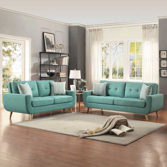 Deryn Teal Sofa Set in Portland OR and Vancouver WA
