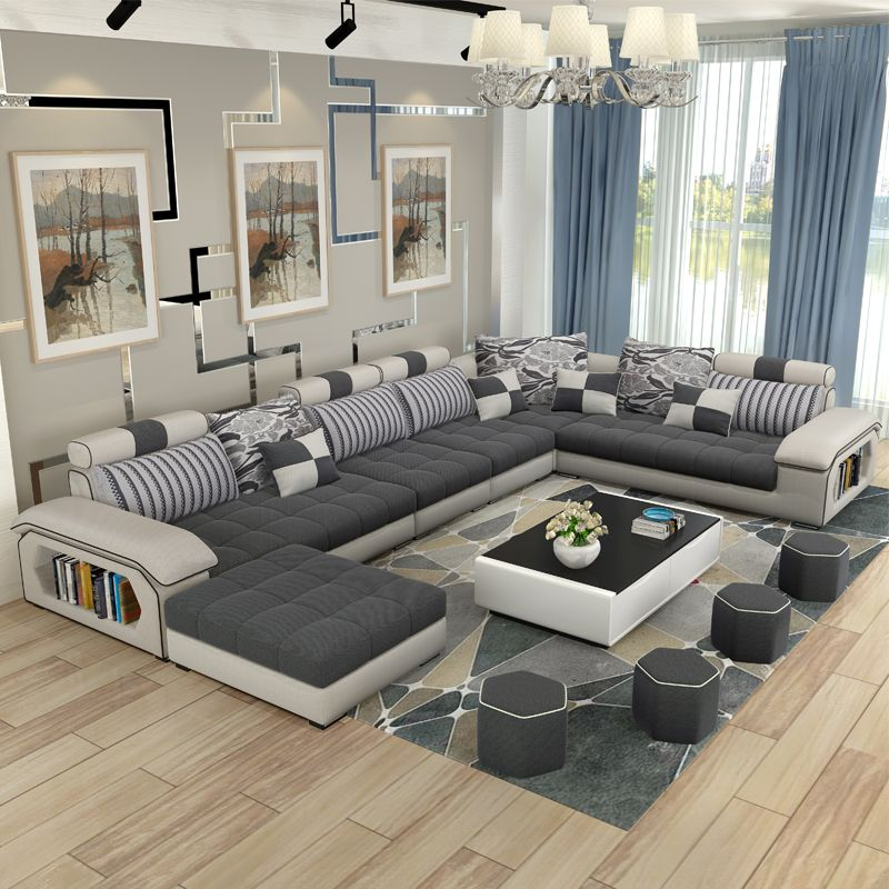 Cheap couches for living room, Buy Quality design couch directly from China  couch design Suppliers: living room furniture modern U shaped fabric corner