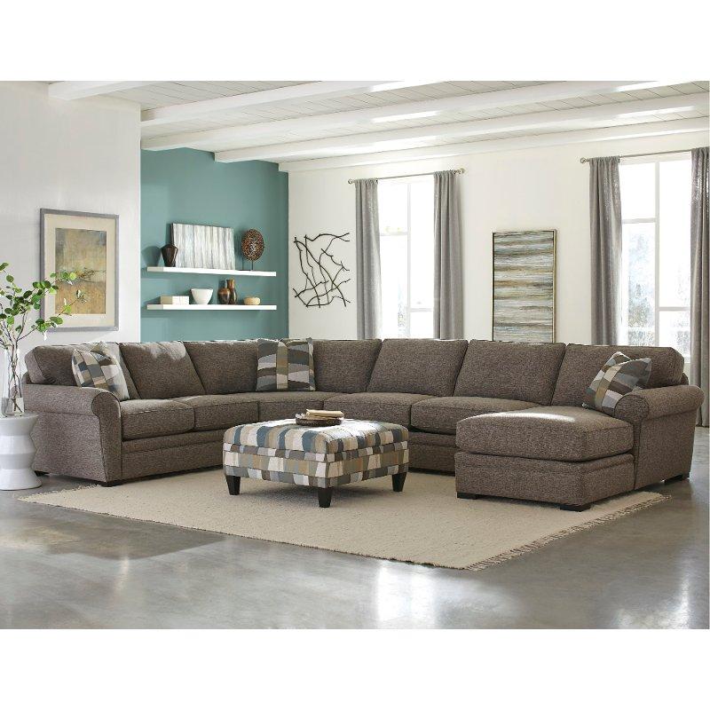 Brown 4 Piece Sectional Sofa with RAF Chaise - Orion | RC Willey Furniture  Store