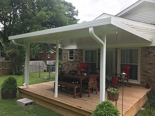 Your patio cover protects you from the elements