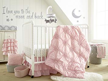 Traveller Location : Levtex Home Baby Willow 5 Piece Crib Bedding Set, Pink : Baby