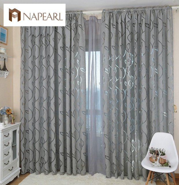 NAPEARL Modern decorative curtains jacquard gray curtains window curtain  for bedroom window blind