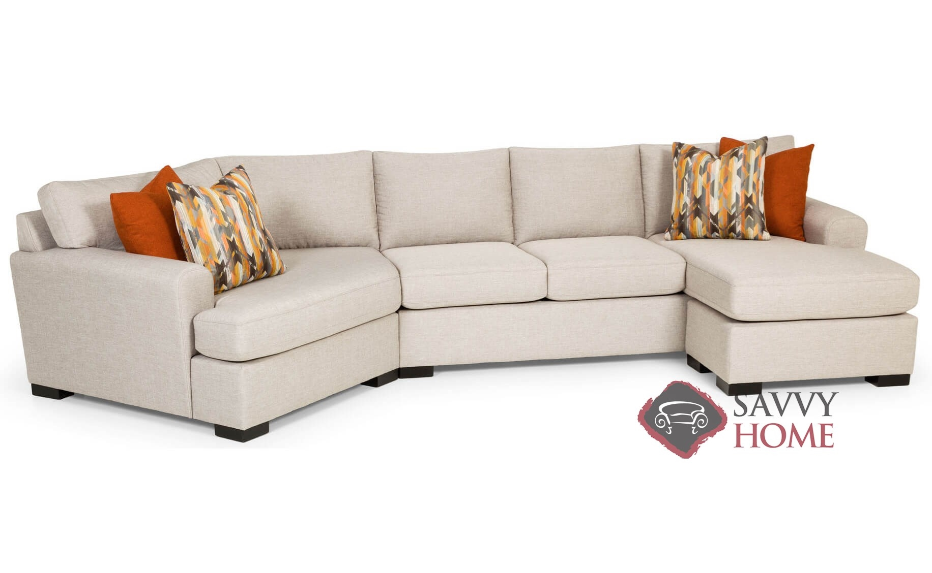 390 Fabric Stationary Chaise Sectional by Stanton is Fully Customizable by  You | Traveller Location