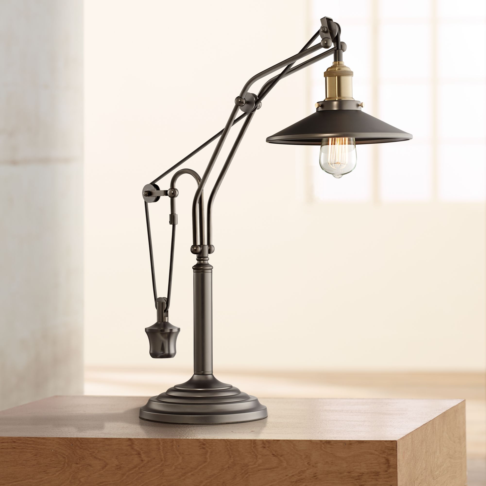 Emile Oiled Rubbed Bronze Industrial Desk Lamp