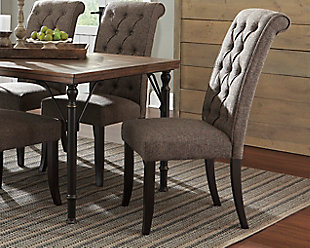 large Tripton Dining Room Chair, Graphite, rollover