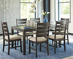 large Rokane Dining Room Table and Chairs (Set of 7), , rollover