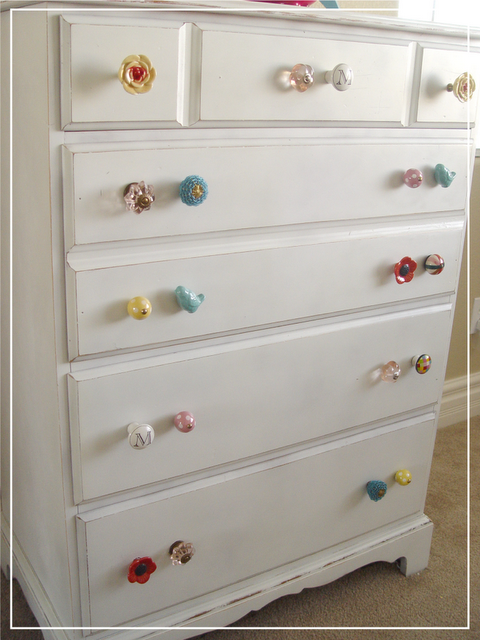 Cute knobs Made from a fifteen dollar dresser