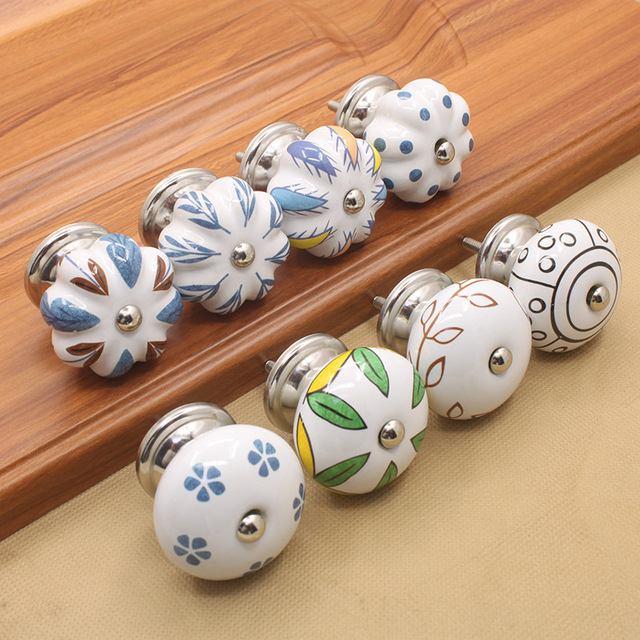 1pc Ceramic Knobs Kitchen Cabinet Knobs Handles Dresser Knob Drawer Pulls /  Retro Cupboard Knob Decorative Hardware