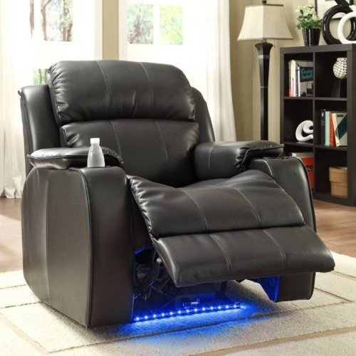 Homelegance Jason Leather Power Recliner with Massage