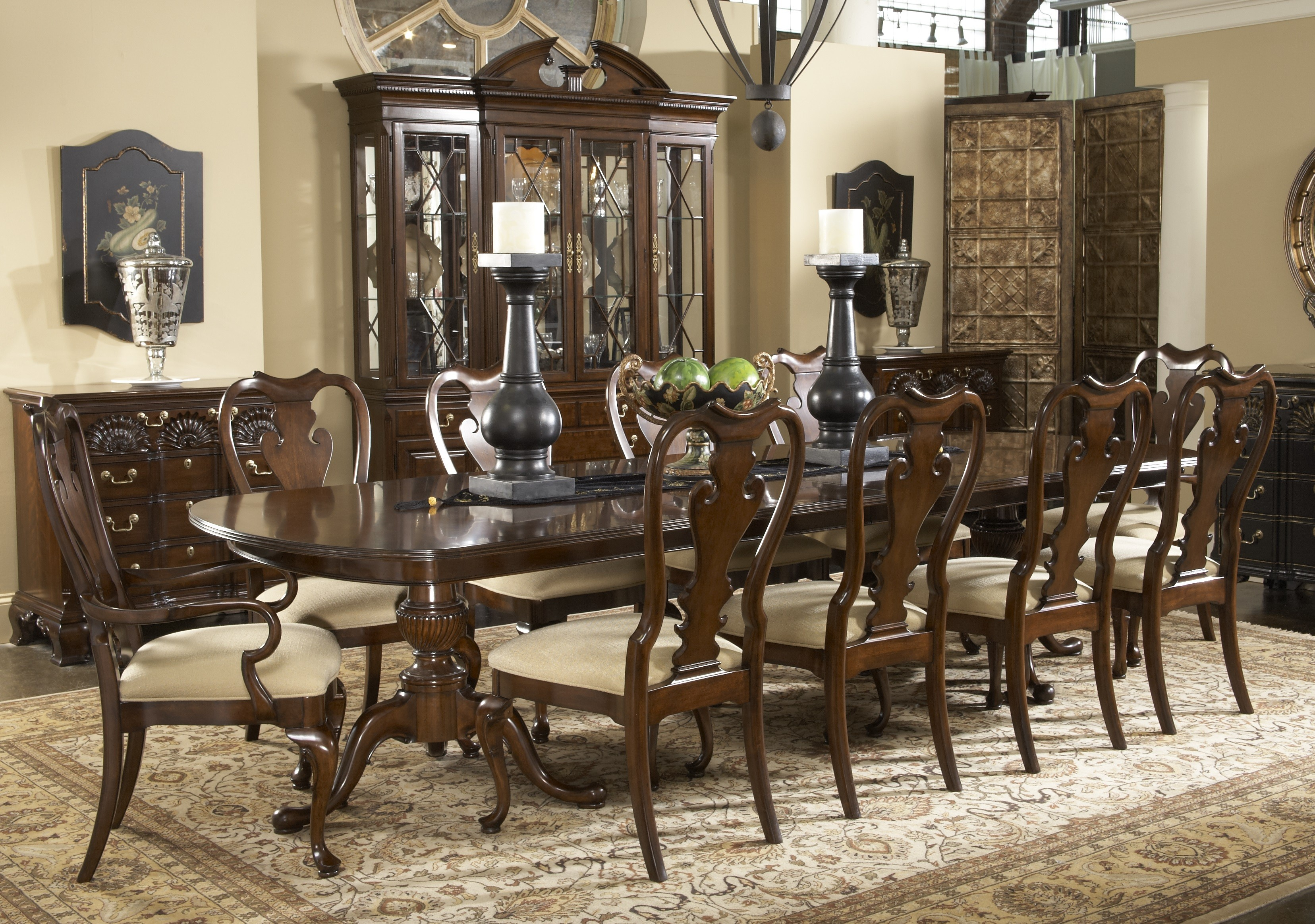 Buy American Cherry Fredericksburg Dining Table Table by Fine Furniture  Design from www.Traveller Location. Sku: 1020-818-819