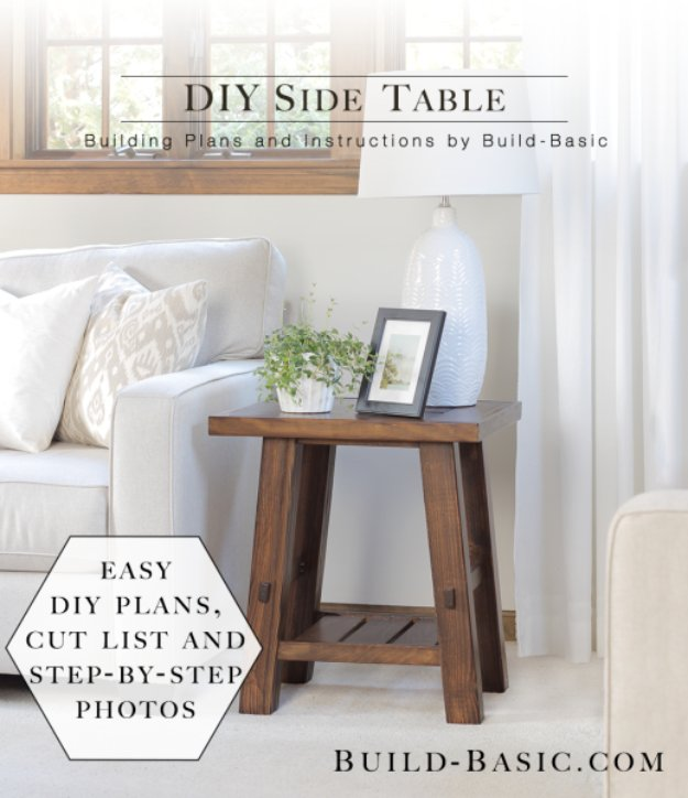 DIY Side Table. 15 Clever DIY End Table Ideas