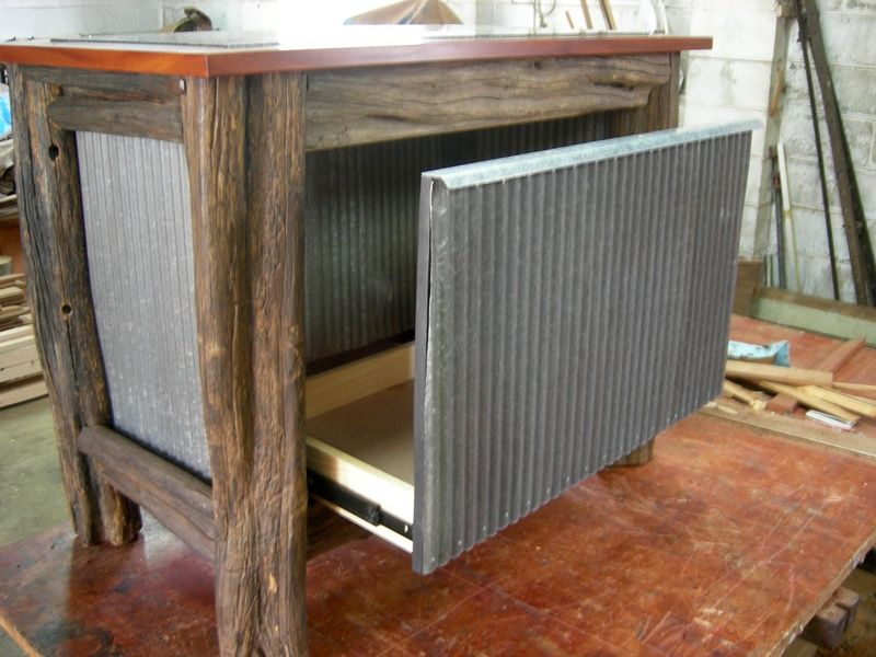 Rustic Kitchen Island - EVERGREEN FURNITURE & CABINETS of Toowoomba