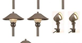 Amazon.com: Low-Voltage LED Bronze Outdoor Light Kit (8-Pack): Clothing