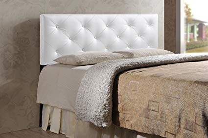 Baxton Studio Wholesale Interiors Baltimore Modern and Contemporary Faux  Leather Upholstered Headboard, King, White