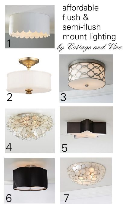 Searching for the Perfect Flush Mount in 2019 | hallway lighting