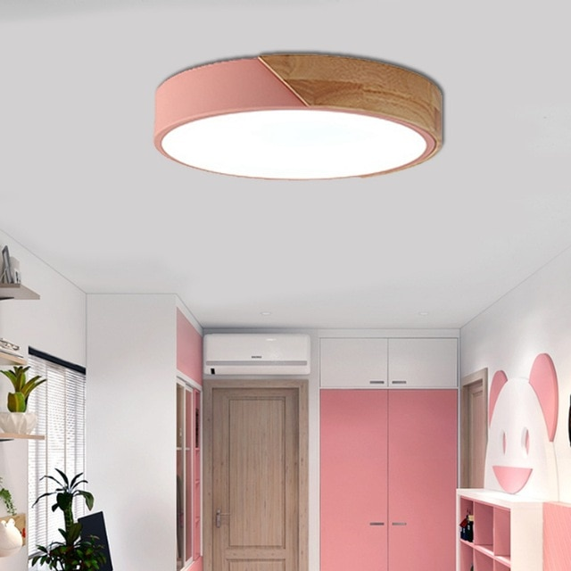LuKLoy LED Flush Mount Ceiling Lights, Dimmable Modern Colorful Thin
