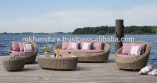 Modern Style Design Garden Sofa Set- PVC Rattan Garden Sofa - Rattan Outdoor  Furniture -