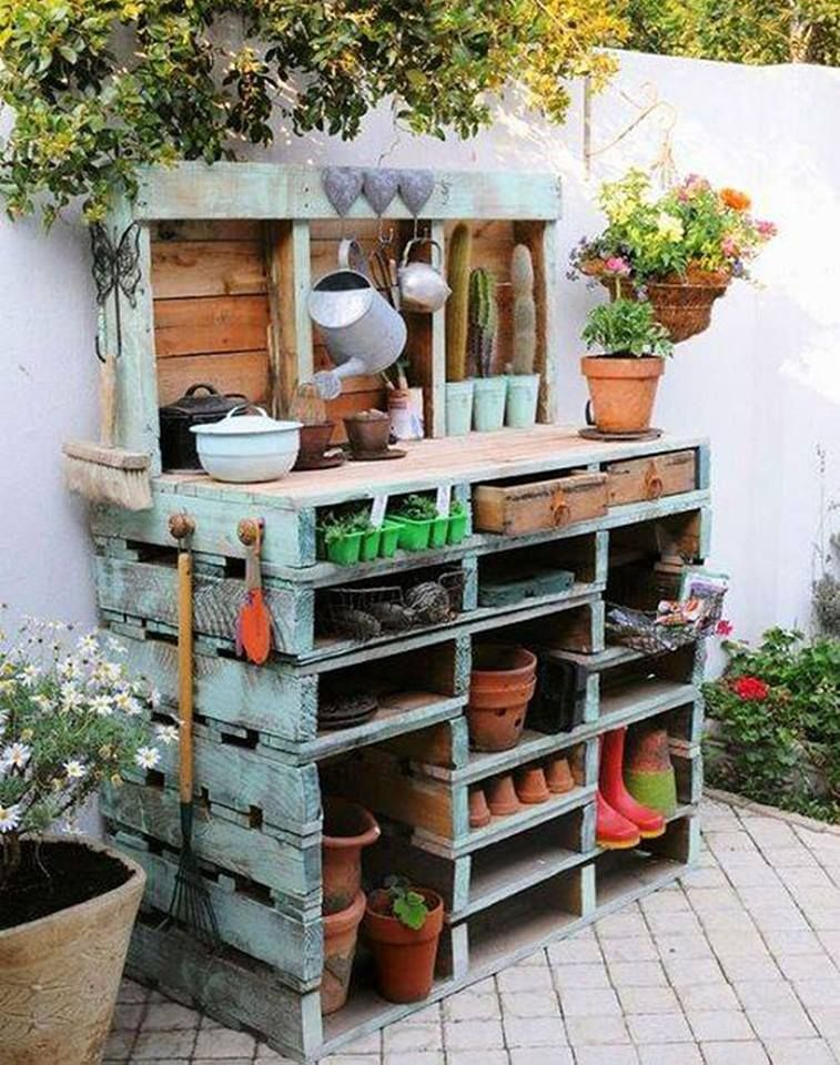 Pallet Garden Table.awesome DIY Pallet Ideas!