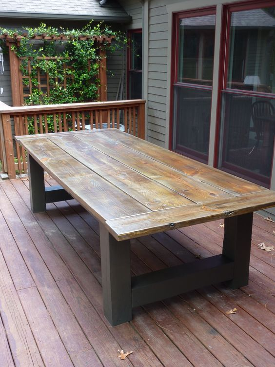 How To Build A Outdoor Dining Table Building an outdoor dining table during  the winter is great way to get ready for the summer. Out…