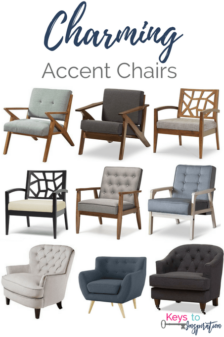 Get the Modern Classic look for less! Affordable Charming Accent Chairs for  your home.