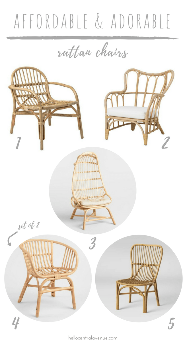 Check out these affordable and adorable rattan chairs! Get the look of  Serena and Lily